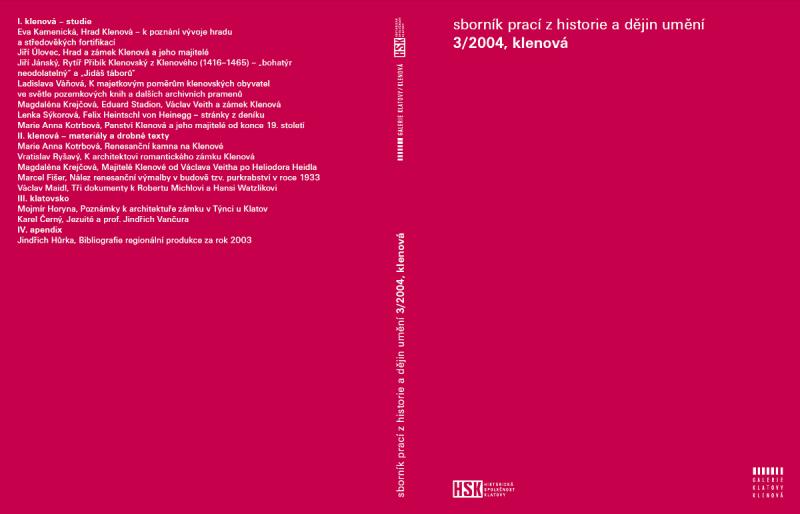 Sborník prací z historie dějin a umění 3/2004, klenová